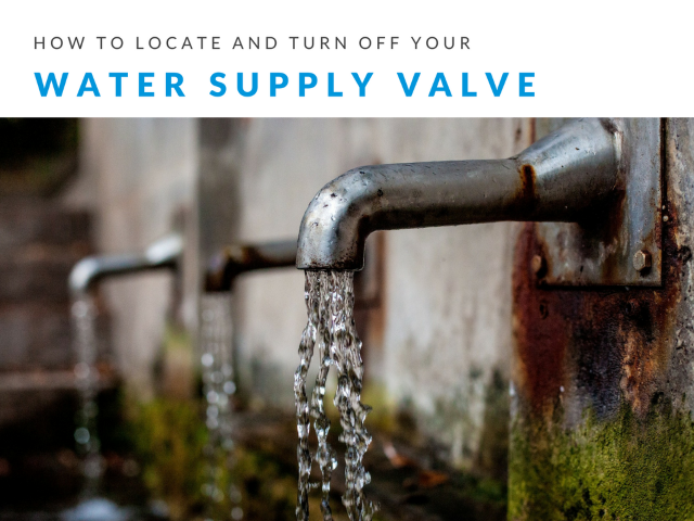 How to Locate and turn off your water supply valve