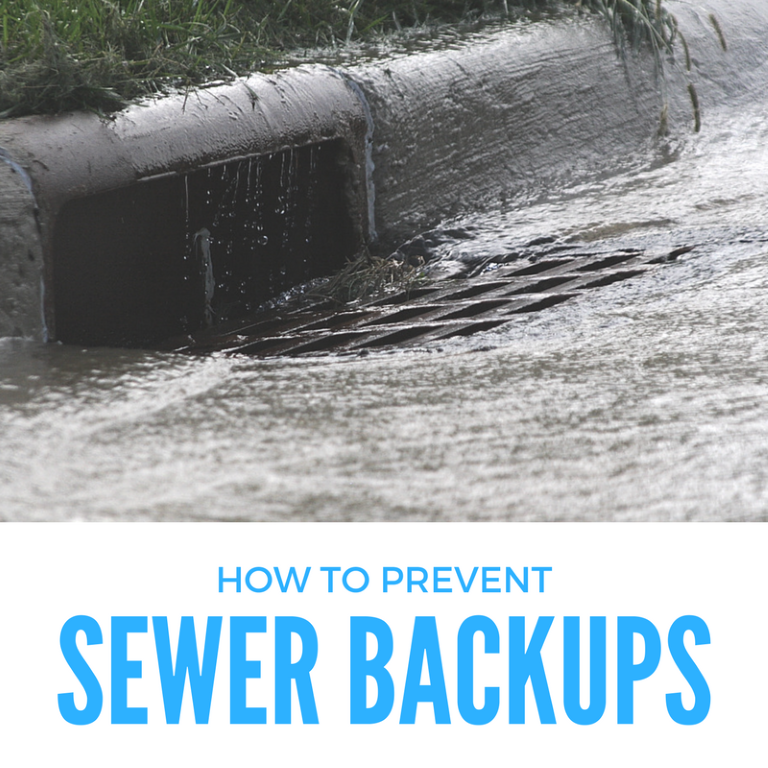 How to prevent sewer backups