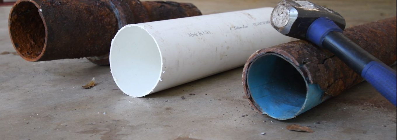 Strength Test - Pipe Lining - Comparing Iron, PVC, and Liner