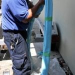 the pipe lining process handling the resin